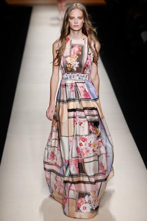 Длинный цветной модный сарафан весна лето 2015 – Alberta Ferretti