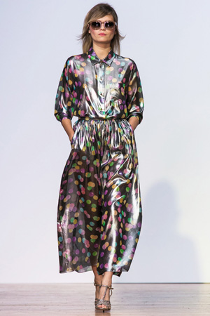 Платье с принтом шарики в пол – коллекция весна лето 2015 Alexander Terekhov