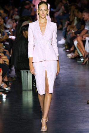 Модный приталенный пиджак в клетку 2015 фото Altuzarra
