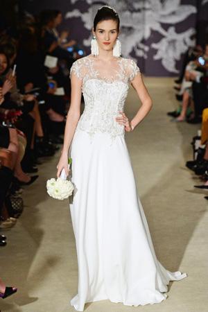 Потрясающей красоты расшитое свадебное платье весна лето 2015 фото Carolina Herrera
