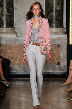 Ярко-розовый разноцветный пиджак мода весна лето 2015 - Emilio Pucci