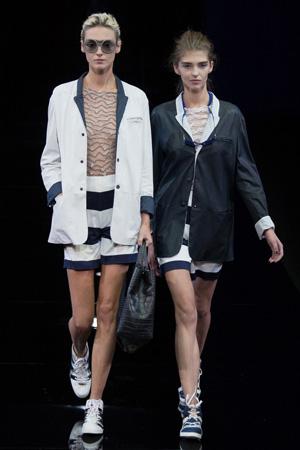 Модный пиджак весна лето 2015 в спортивном стиле Emporio Armani