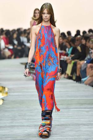 Разноцветный модный сарафан весна лето 2015 – Roberto Cavalli