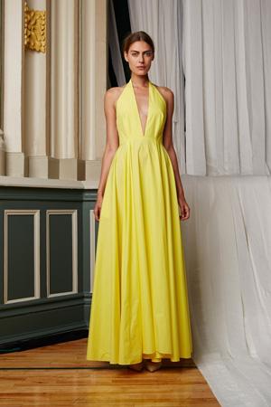Длинное модное летнее платье весна лето 2015 – Rosie Assoulin