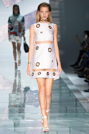 Платье Versace 2015 с круглыми вставками