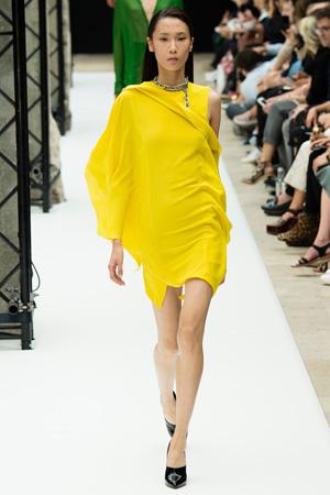 Желтое модное платье 2015 Acne Studios