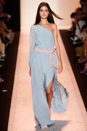 Голубое модное длинное платье 2015 – BCBG Max Azria