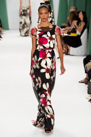 Длинное обтягивающее летнее платье 2015 – Carolina Herrera