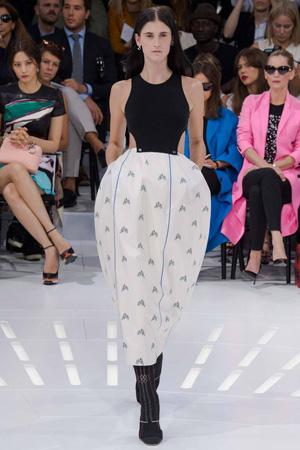 Платье с пышной юбкой – мода весна лето 2015 Christian Dior