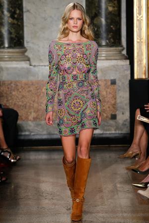 Короткое модное платье весна лето 2015 – Emilio Pucci