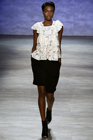 Кружевной топ с модными шортами 2015 Rebecca Minkoff