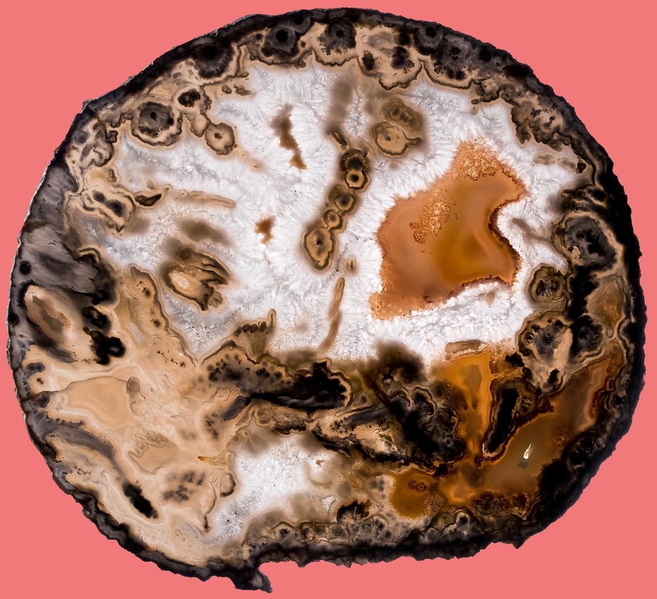 Пейзажный агат - фото и свойства камня агат
