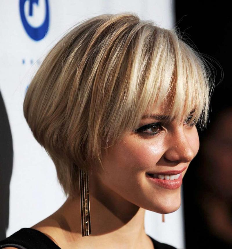 Причёска на короткие волосы с чёлкой фото своими руками