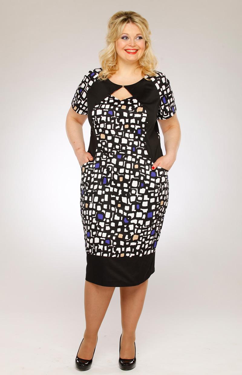 Модное платье для полных женщин – фото новинки сезона