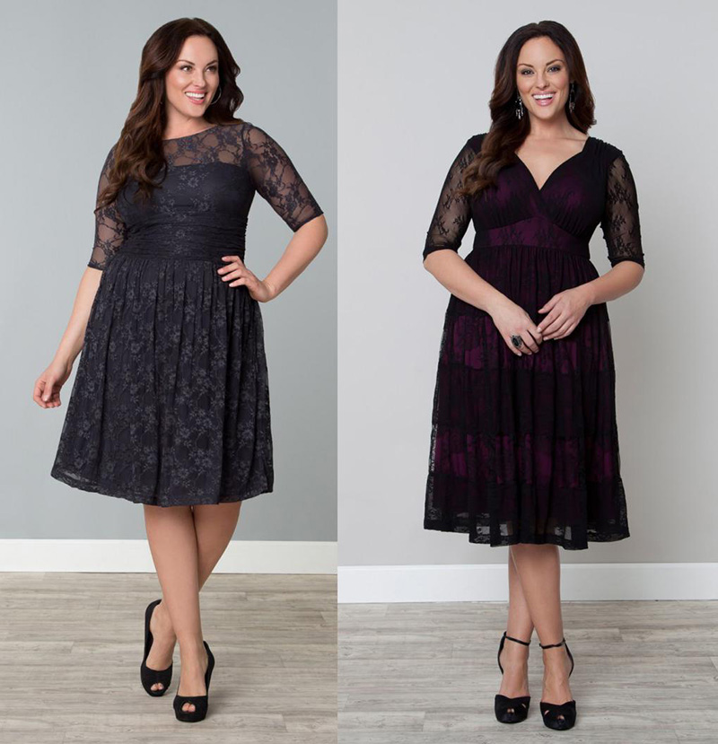 Модные платья для полных женщин – фото новинки