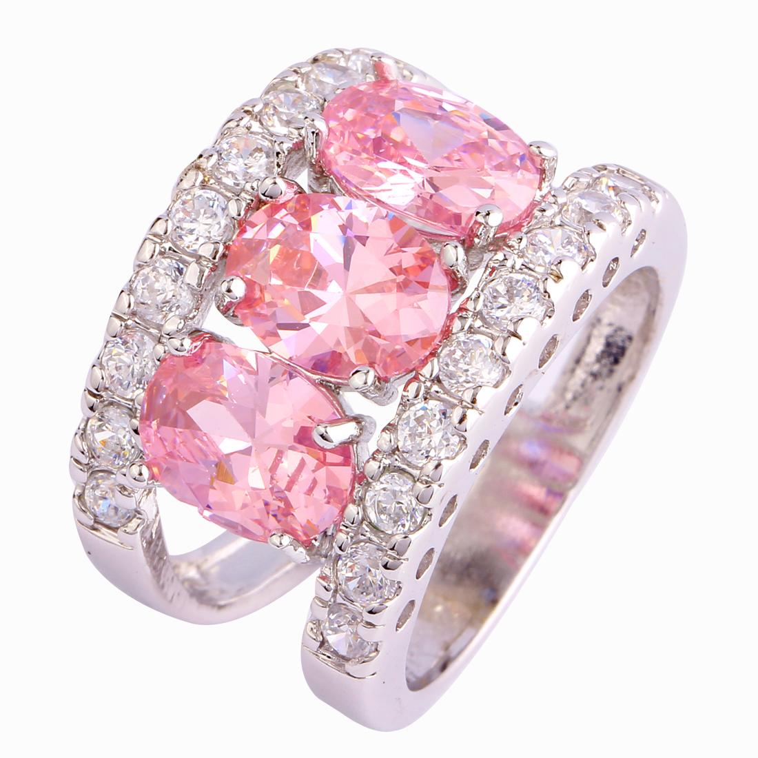Розовый топаз - фото украшений с розовым топазом