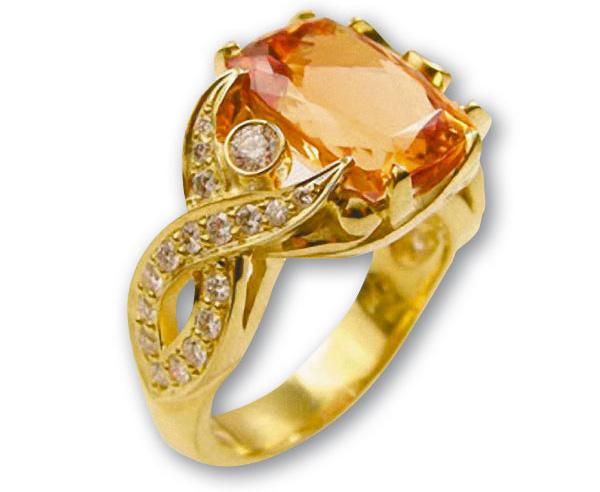 Золотистый желтый топаз