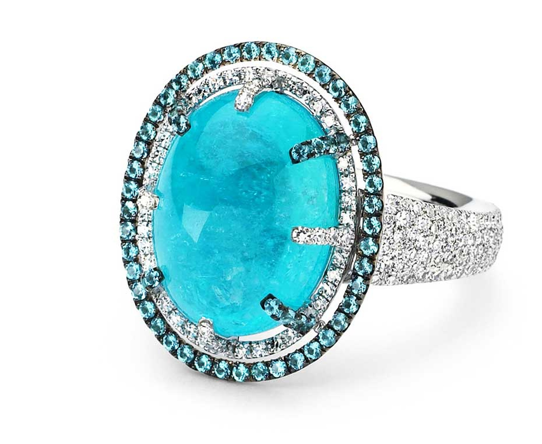 Кольцо с камнем турмалин