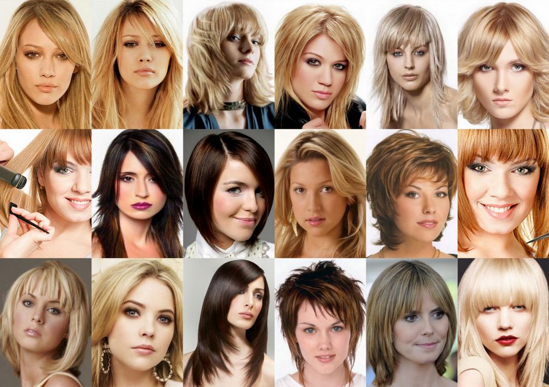 Подбор стрижки на средние волосы по фото