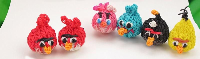Angry Birds из резинок