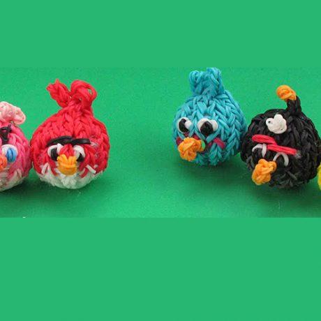Angry Birds из резинок — фото, схемы