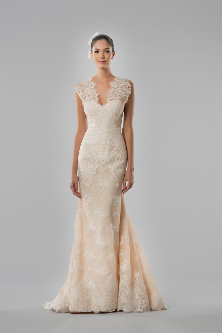 Модное свадебное платье 2016 кремового цвета – Carolina Herrera