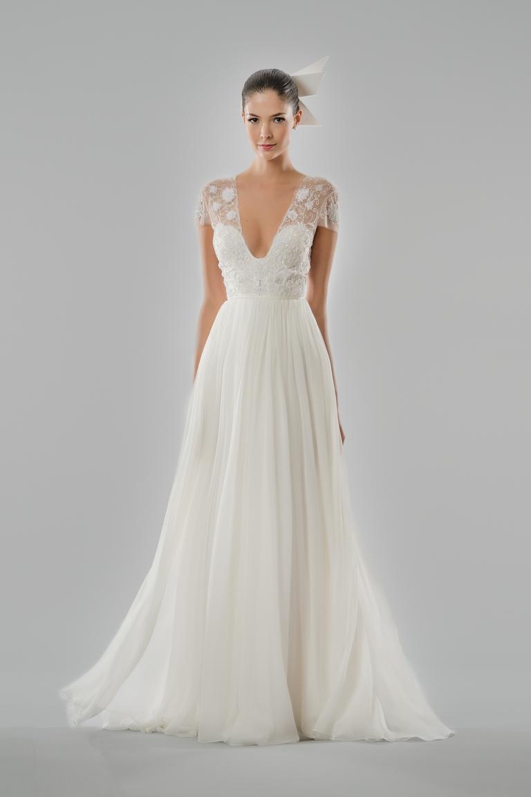 Длинное пышное свадебное платье 2016 - фото новинки в коллекции Carolina Herrera