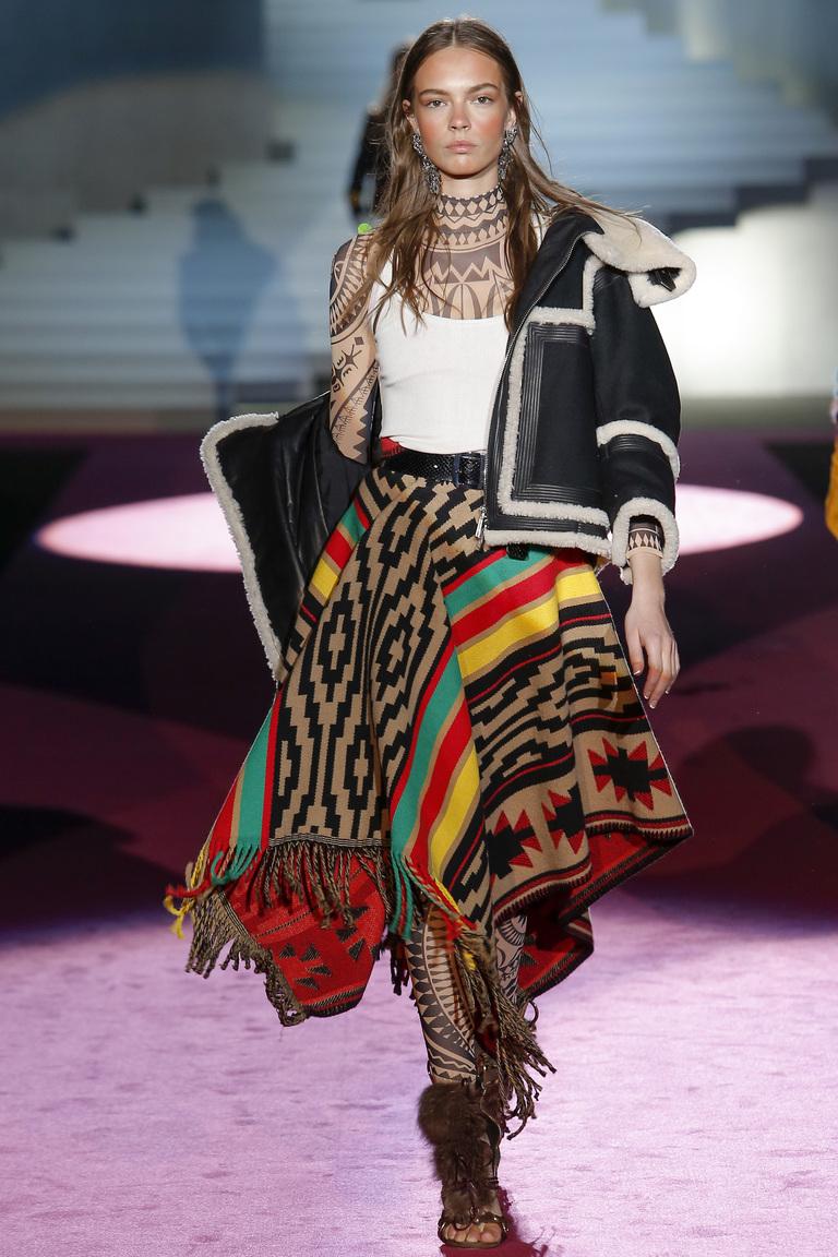 Модная юбка 2016 модель пончо – фото новинки от Dsquared²