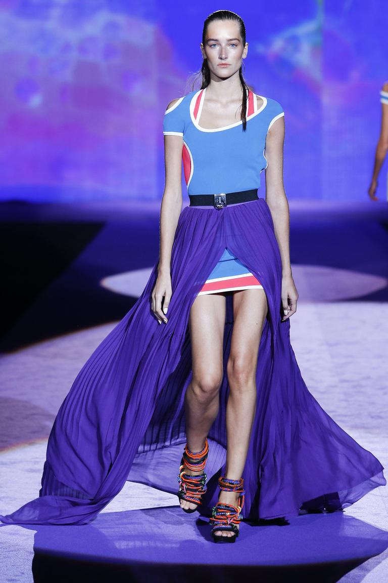 Фиолетовая длинная юбка 2016 – фото коллекции Dsquared²