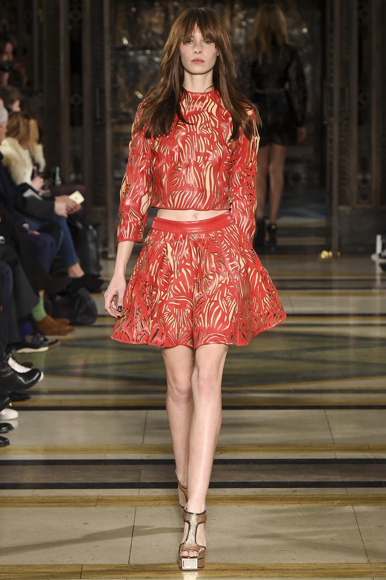 Красная модная юбка 2016 - фото новинка от Felder Felder