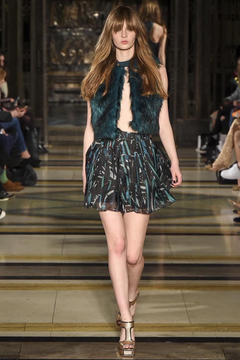 Короткая модная юбка 2016 фото с меховой жилеткой – фото новинка в коллекции Felder Felder