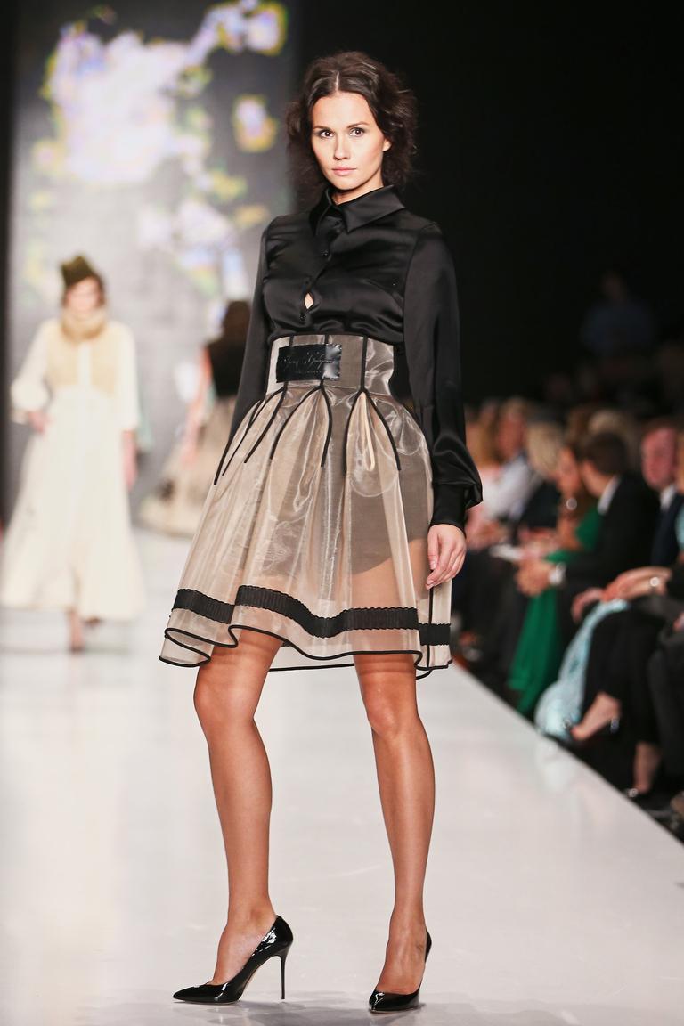 Прозрачная модная юбка солнце 2016 - фото новинка в коллекции Igor Gulyaev