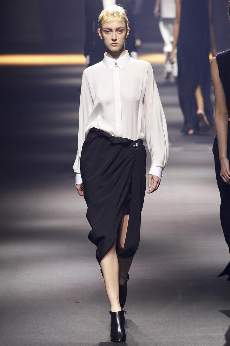 Длинная модная юбка 2016 с запахом – фото коллекции Lanvin