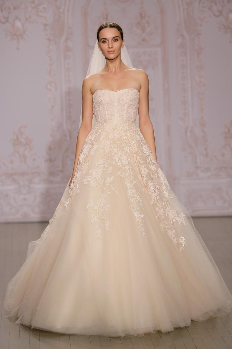 Пышное модное свадебное платье 2016 – фото новинка от Monique Lhuillier