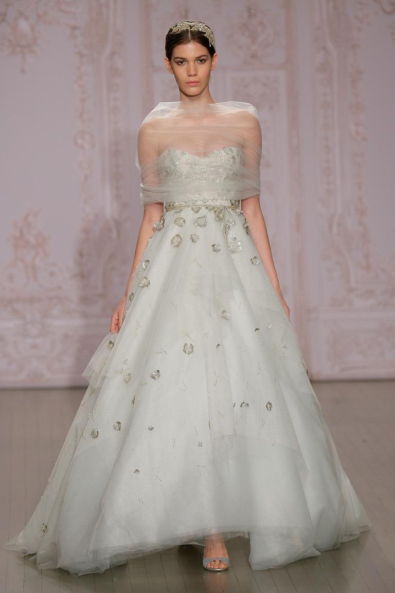 Пышное свадебное платье 2016 - фото новинка от Monique Lhuillier