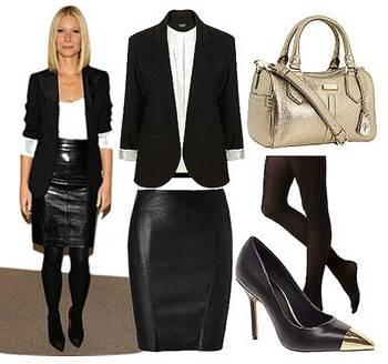 Фото нарядов с черными колготками - с чем носить черные колготки фото
