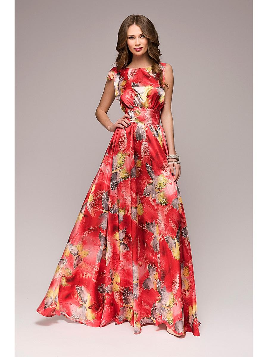 Потрясающее красное платье с ярким принтом