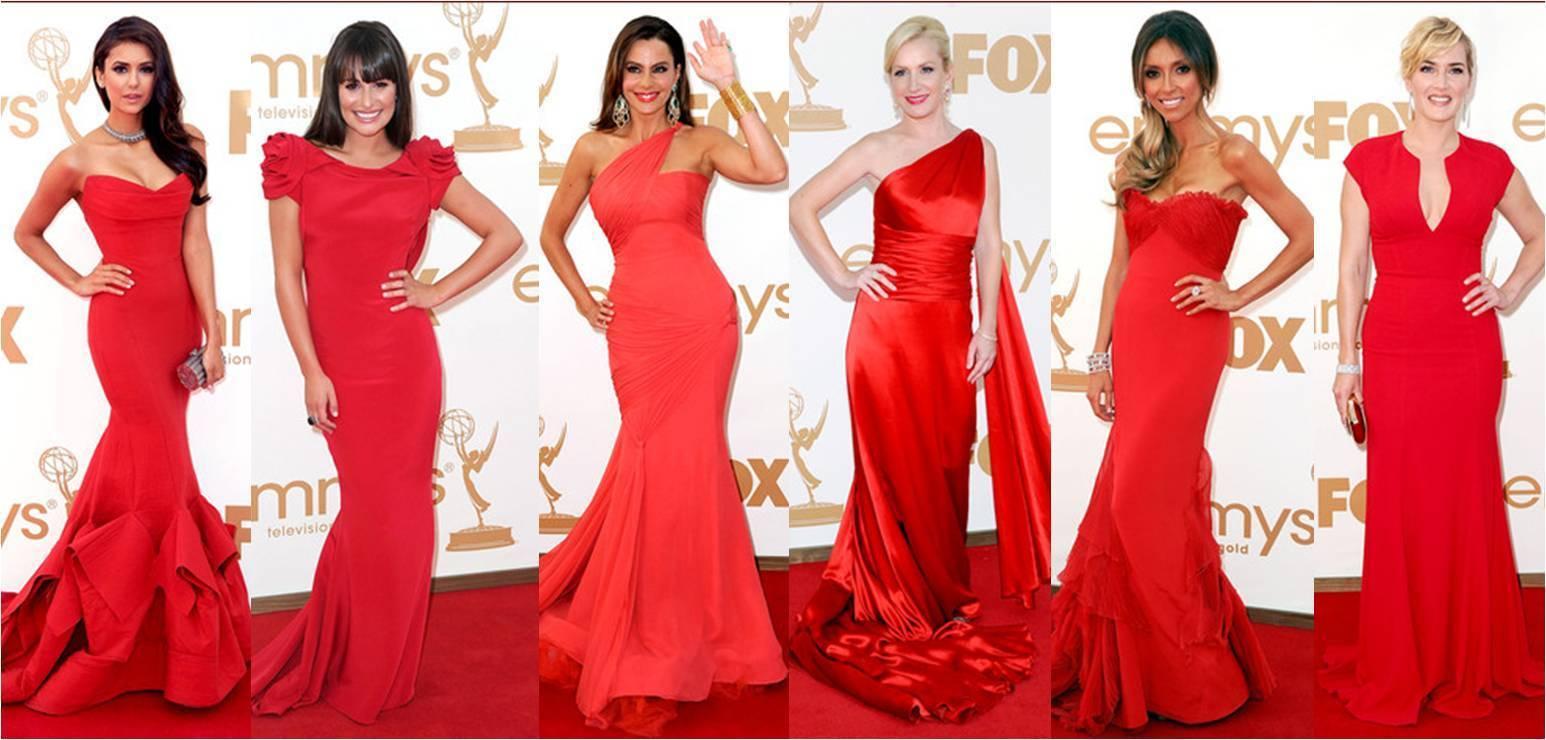 Вечерний образ в красном платье