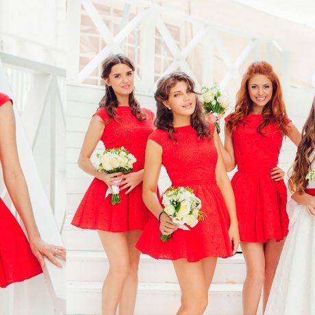 Красное платье фото – с чем носить красное платье