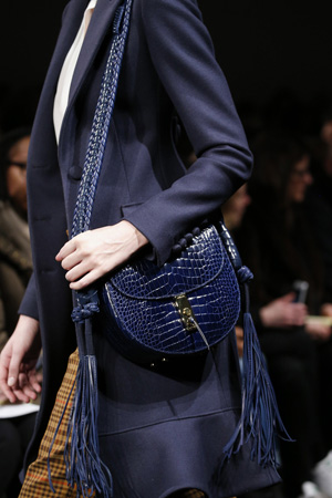 Синяя сумка модного цвета осень зима 2015-2016 фото – Altuzarra
