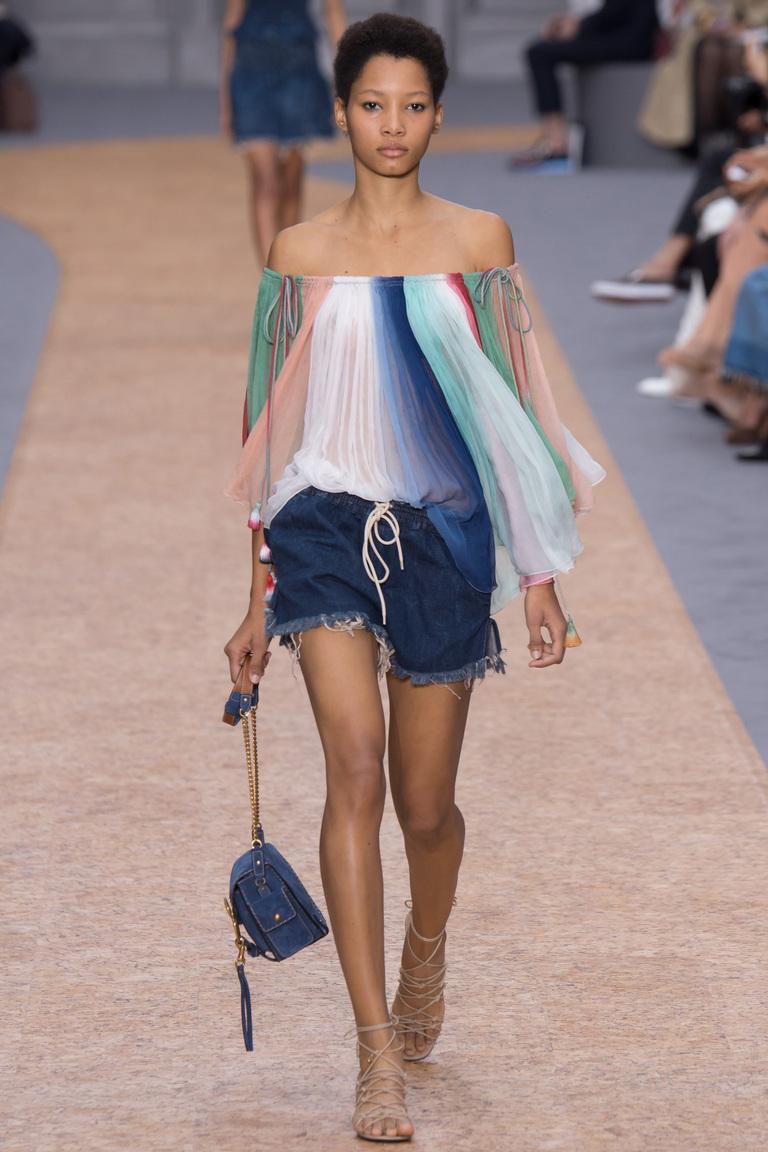 Блузка с пышным рукавом – мода 2016 фото Chloé весна-лето 2016