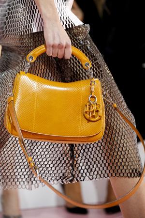 Оранжевая модная сумка осень зима 2015 2016 – фото Christian Dior