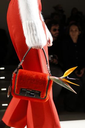 Красная модная сумка осень зима 2015 2016 фото – Fendi