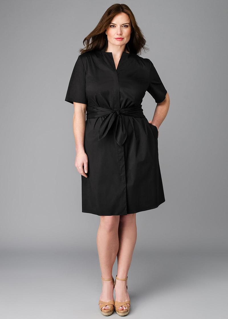 Фото новинки: модель платья для полных женщин
