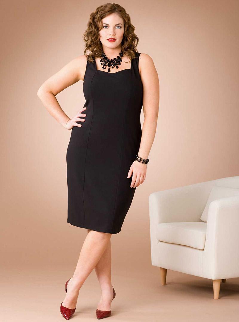 Классическое платье футляр для полных женщин – фото новинки сезона