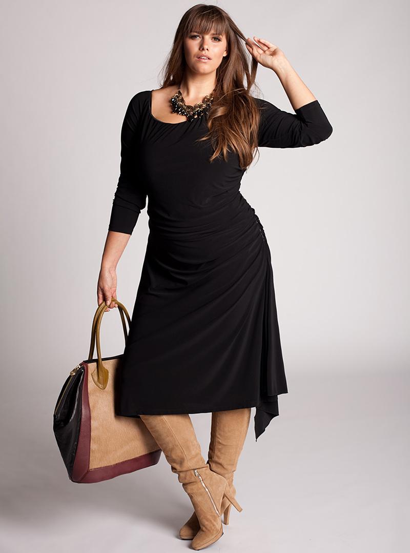 Длинное платье для полных женщин – фото новинки сезона