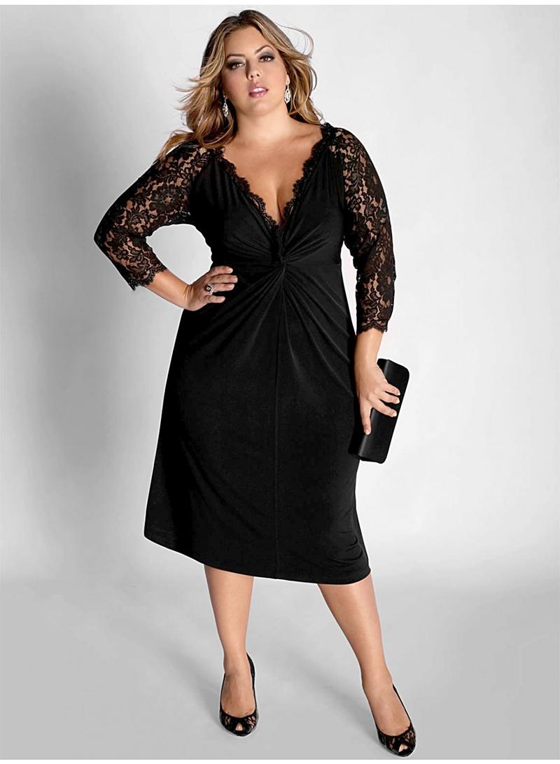 Фасон модного платья для полных женщин – фото новинки сезона
