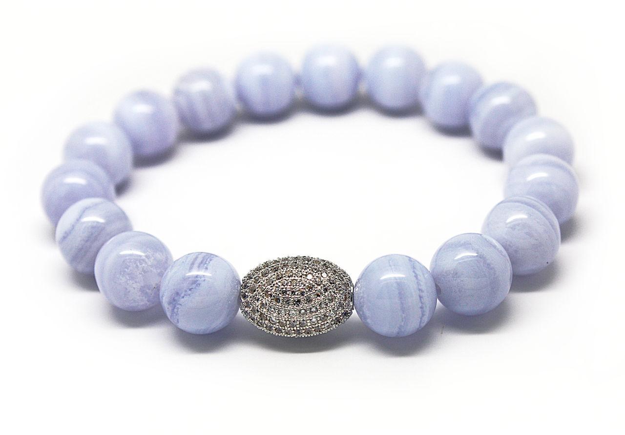 Халцедон - камень, который борется с хандрой. 20 красивых браслетов.