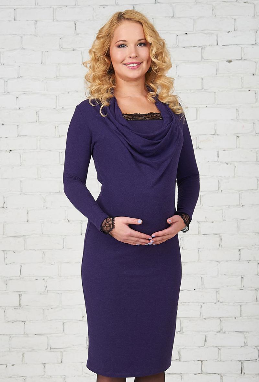 Трикотажное платье для беременных – фото новинки