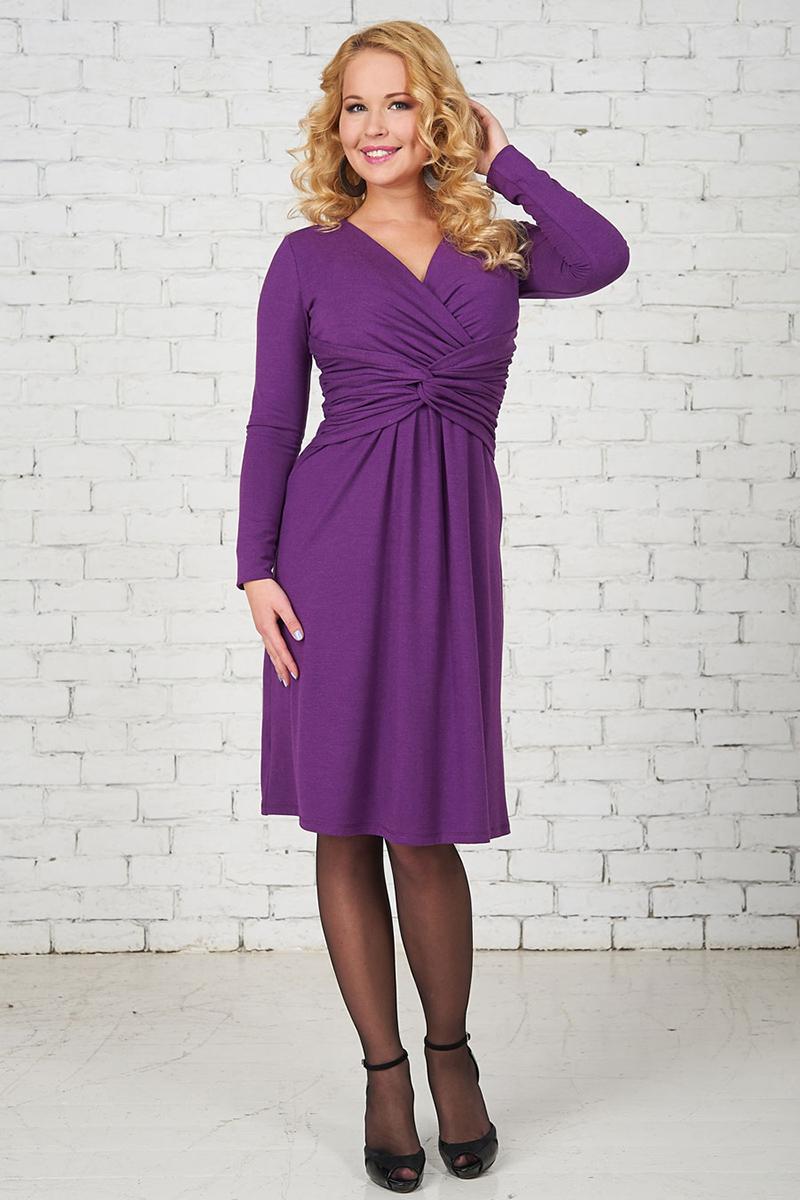 Фиолетовое праздничное платье для беременных – фото новинки сезона